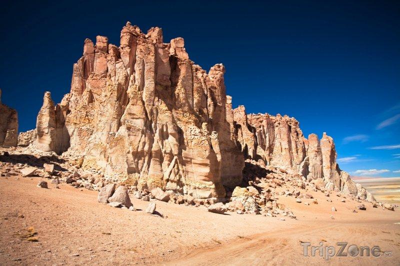 Fotka, Foto Skály v národní rezervaci Los Flamencos (Chile)