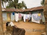 Slumy ve městě Accra