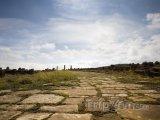 Stará římská cesta v Timgadu