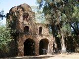 Starý kamenný kostel ve městě Gondar