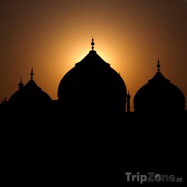 Fotka, Foto Tádž Mahal v západu slunce (Indie)