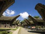 Torajská vesnice na Sulawesi