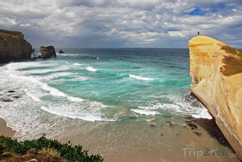 Fotka, Foto Tunnel beach (Nový Zéland)