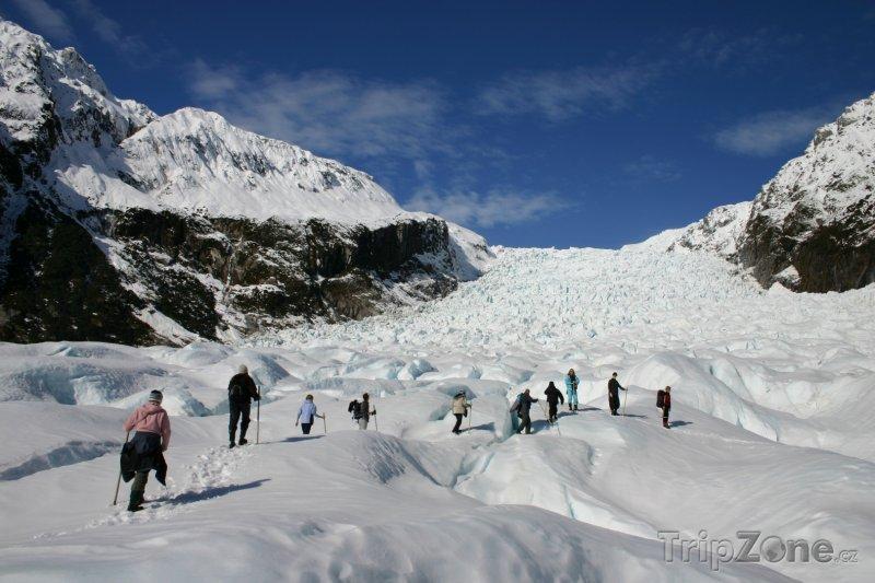 Fotka, Foto Turisté na ledovci Fox (Nový Zéland)