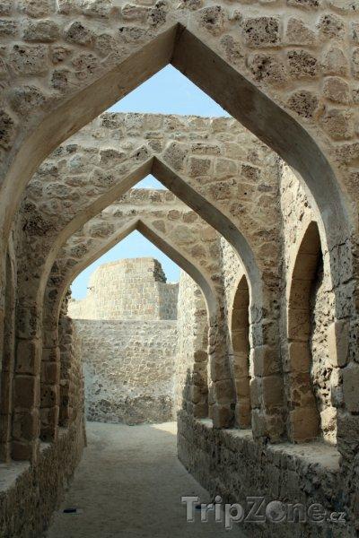 Fotka, Foto Ulička v pevnosti Qal'at al-Bahrain (Bahrajn)