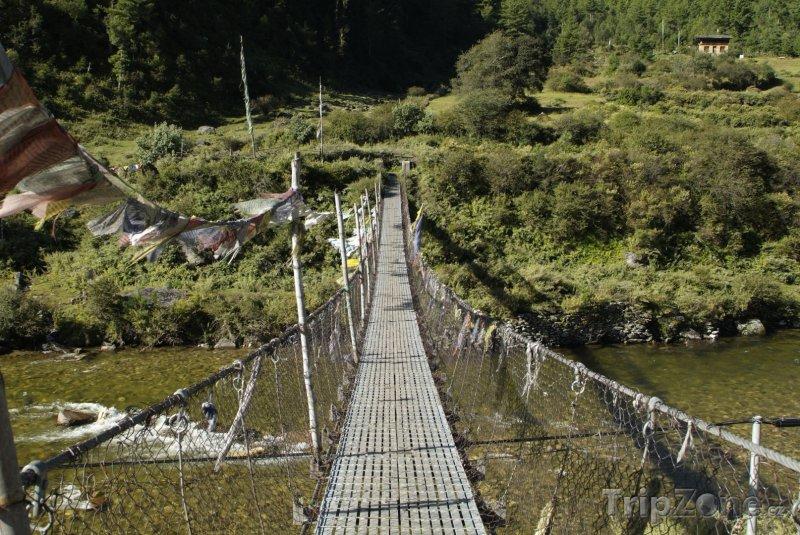 Fotka, Foto Visutý most přes řeku Ha Chhu (Bhútán)