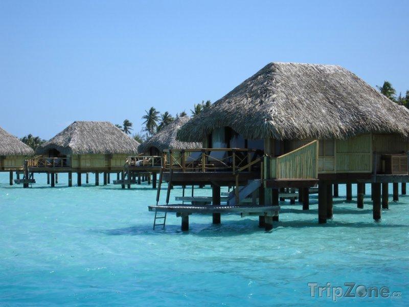 Fotka, Foto Vodní bungalovy na Bora Bora (Francouzská Polynésie)