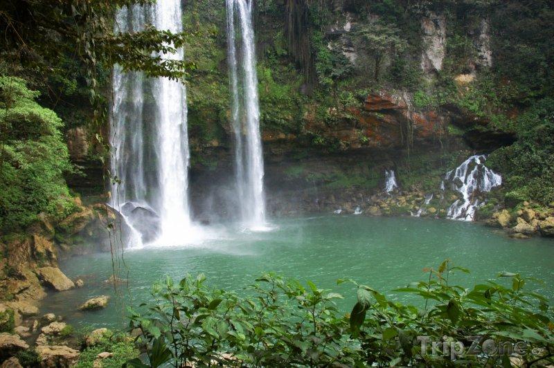 Fotka, Foto Vodopády Agua Azul v Chiapasu (Mexiko)