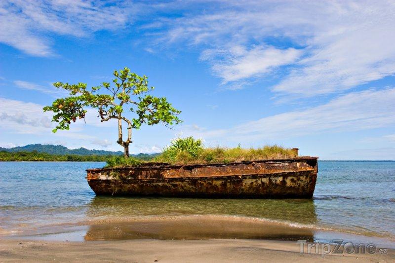 Fotka, Foto Vrak lodi u města Puerto Viejo (Kostarika)