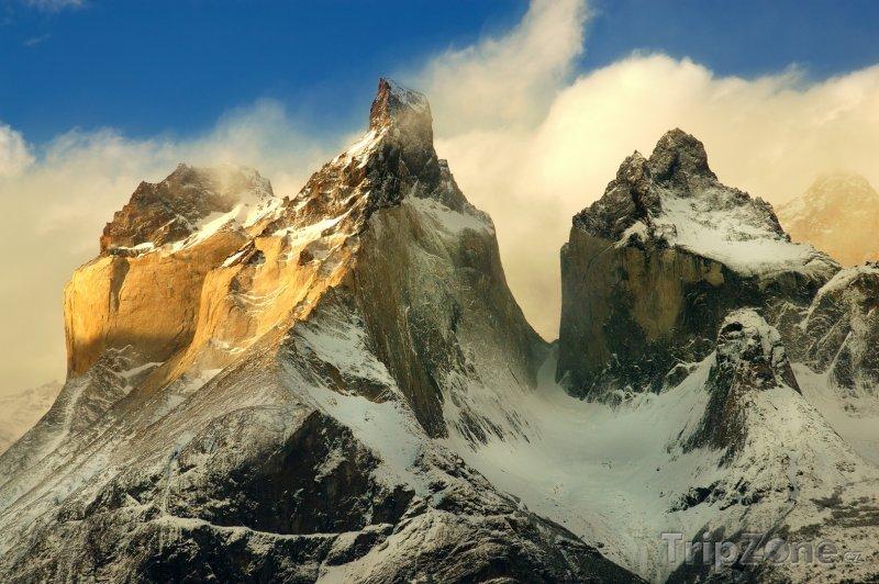 Fotka, Foto Vrcholky hor v Torres del Paine (Chile)