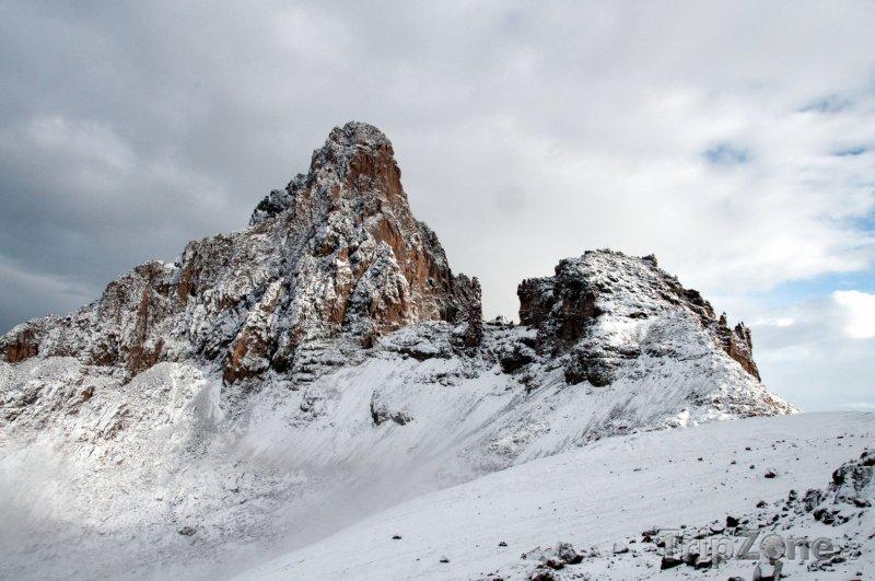 Fotka, Foto Zasněžený masiv Mount Kenya (Keňa)
