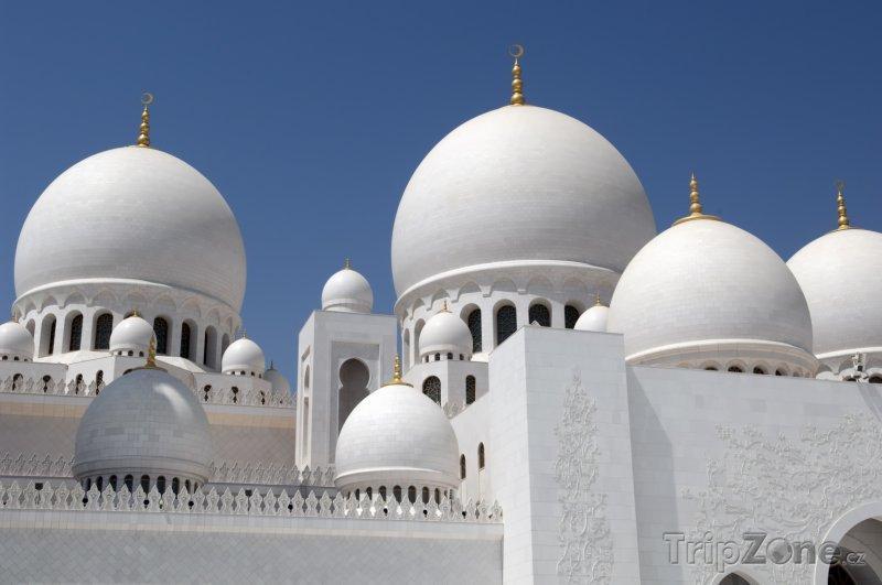 Fotka, Foto Abú Dhabí, kopule na mešitě Sheikh Zayed (Spojené arabské emiráty)