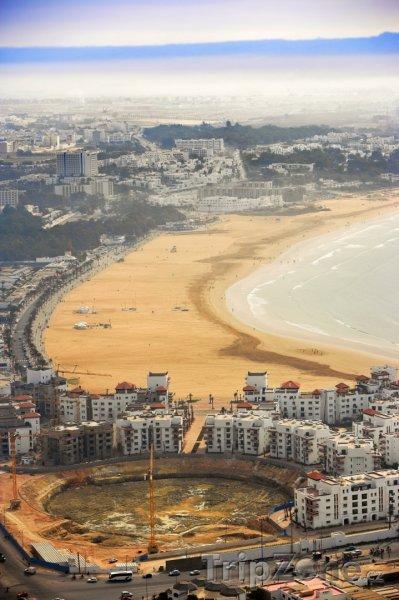 Fotka, Foto Agadir, pohled na pobřeží (Maroko)