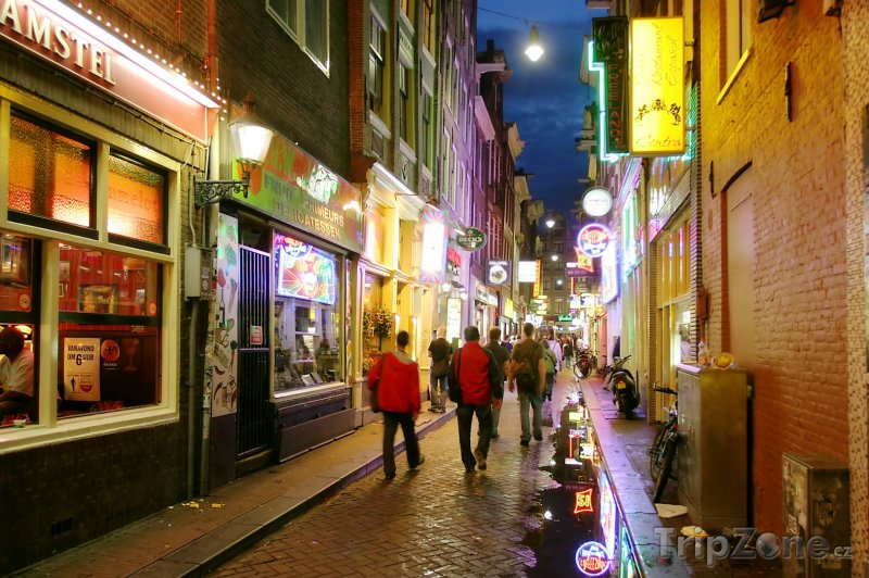 Fotka, Foto Amsterdam, proslulá ulice v Red Light District (Nizozemsko)