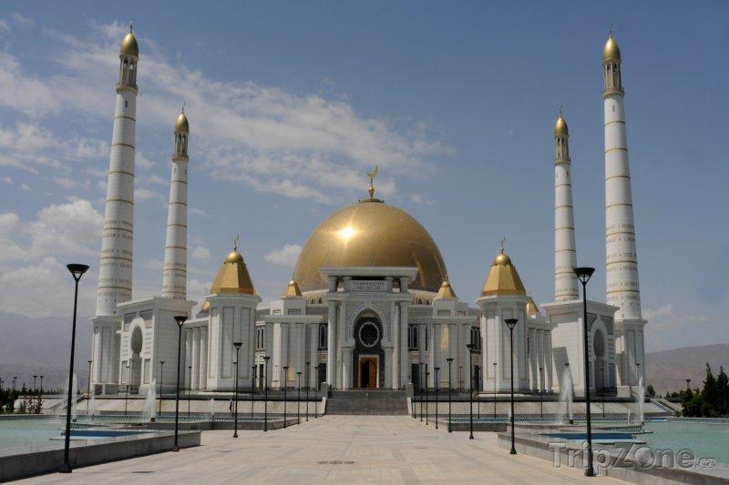 Fotka, Foto Ašchabad, mešita Ärtogrul Gazy (Turkmenistán)