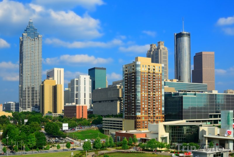 Fotka, Foto Atlanta, mrakodrapy v centru města (USA)