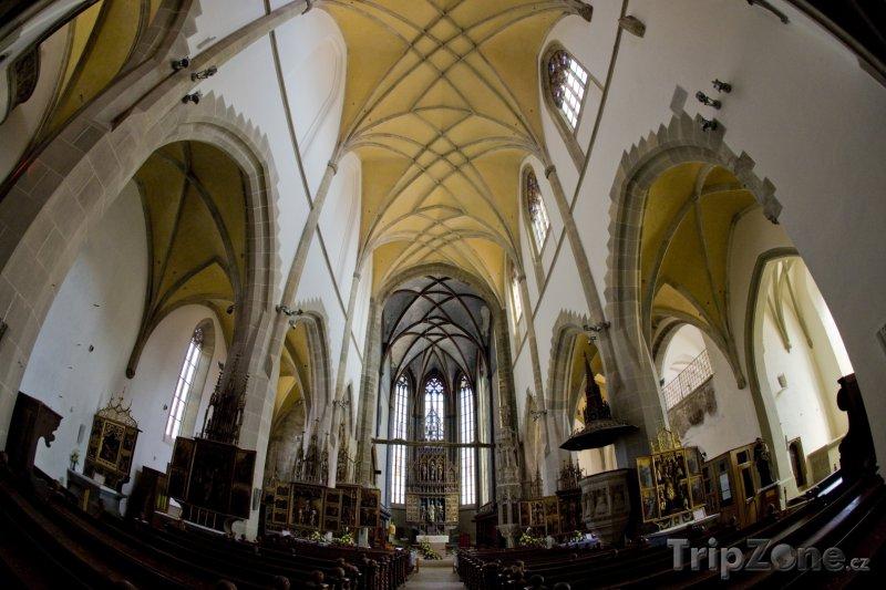 Fotka, Foto Bardejov, vnitřek kostela sv. Egídia (Slovensko)