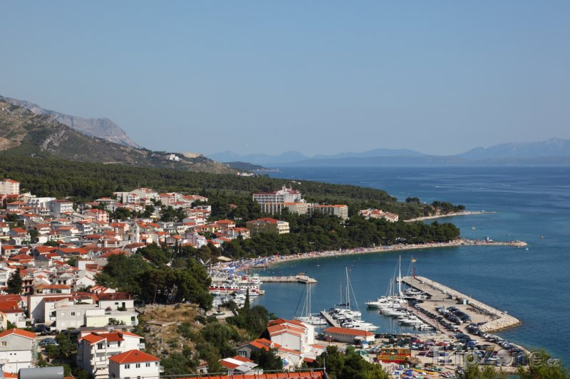 Fotka, Foto Baška Voda panorama (Makarská riviéra, Chorvatsko)