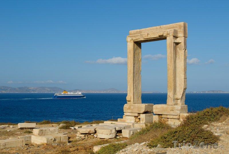 Fotka, Foto Brána Portara na ostrově Naxos (Řecko)