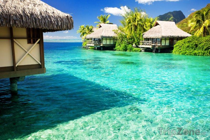 Fotka, Foto Bungalovy v laguně (Maledivy)