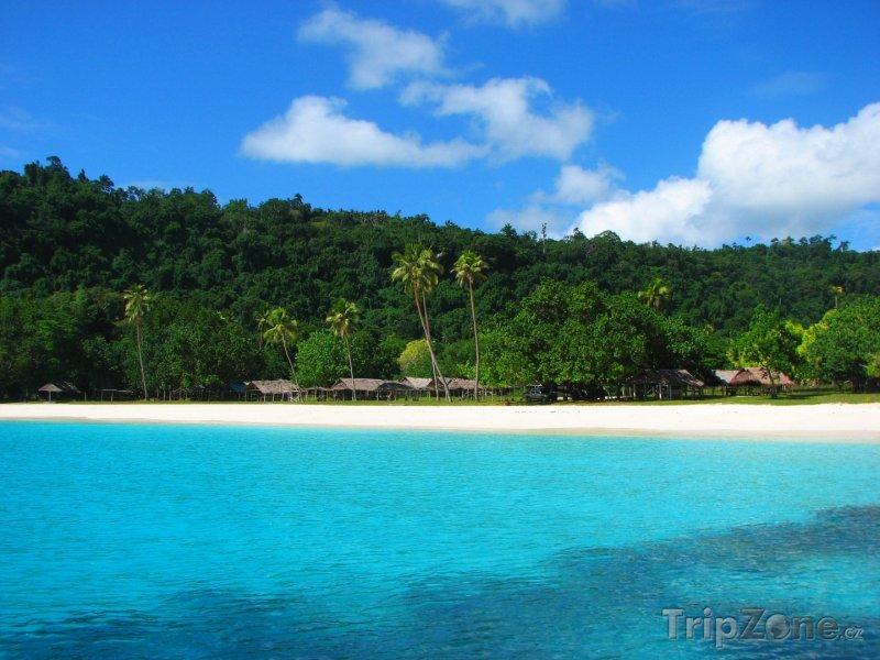 Fotka, Foto Champagne beach na ostrově Espiritu Santo (Vanuatu)