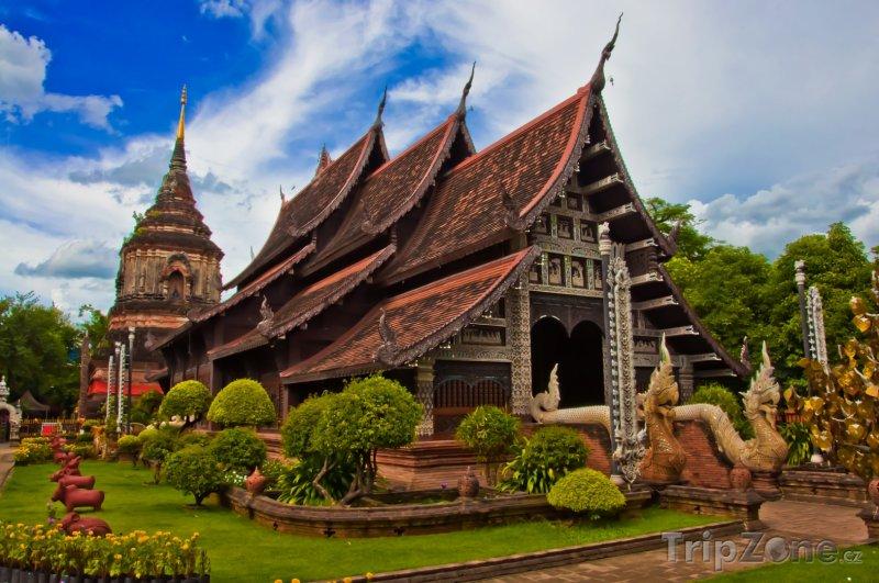 Fotka, Foto Chiang Mai, chrám Wat Chiang Man (Thajsko)