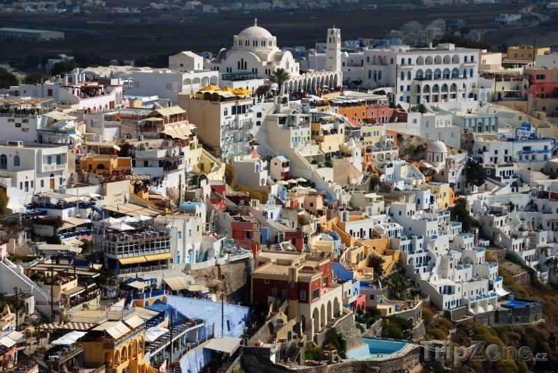 Fotka, Foto Domy na ostrově Santorini (Řecko)