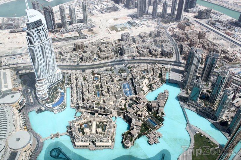 Fotka, Foto Dubaj, pohled z mrakodrapu Burdž Chalífa (Spojené arabské emiráty)