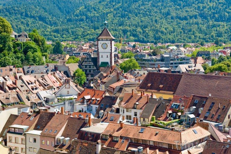 Fotka, Foto Freiburg panorama (Bádensko-Württembersko, Německo)