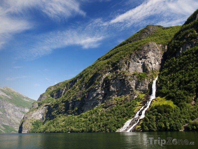 Fotka, Foto Geirangerfjord, vodopád Suitor (Norsko)