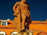Heidelberg, socha Herkula na náměstí Marketplatz