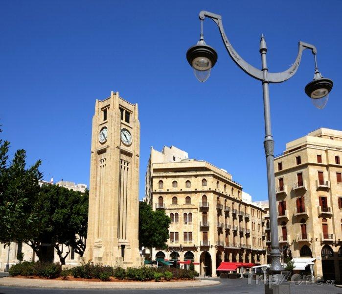 Fotka, Foto Hodinová věž v centru města (Bejrút, Libanon)