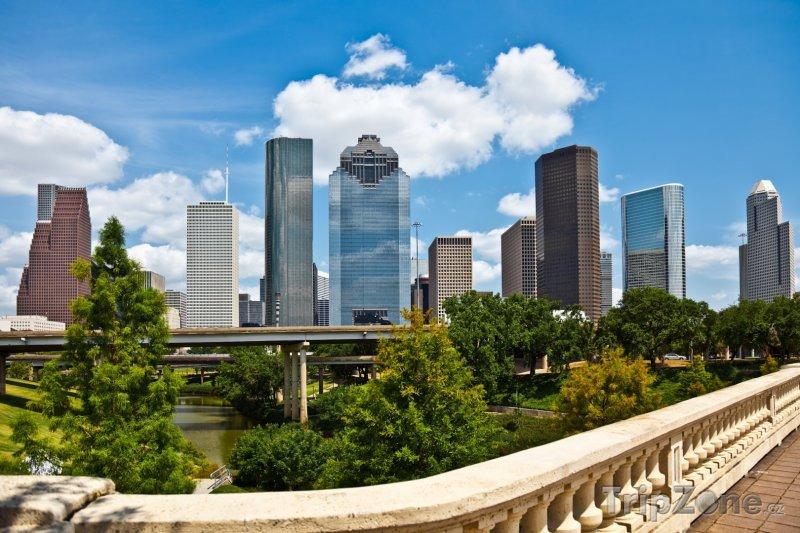 Fotka, Foto Houston, mrakodrapy v centru města (USA)