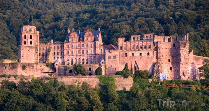 Fotka, Foto Hrad ve městě Heidelberg (Bádensko-Württembersko, Německo)