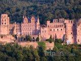 Hrad ve městě Heidelberg