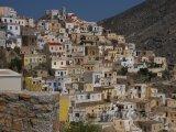Karpathos, domy ve městě Pigadia