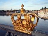 Koruna na mostě ve Stockholmu