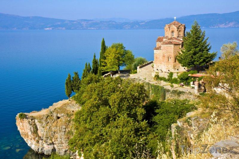 Fotka, Foto Kostel Jovan Kaneo nad Ohridským jezerem (Makedonie)