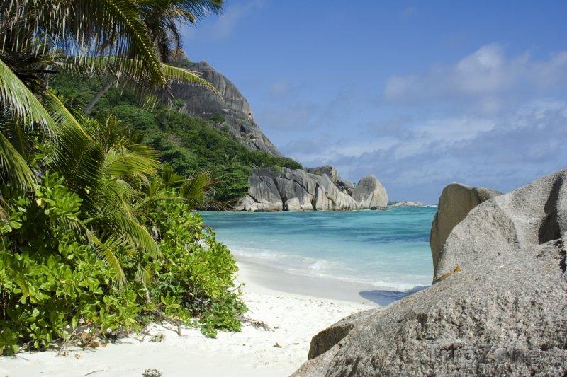 Fotka, Foto La Digue, pláž Anse Source d'Argent (Seychely)