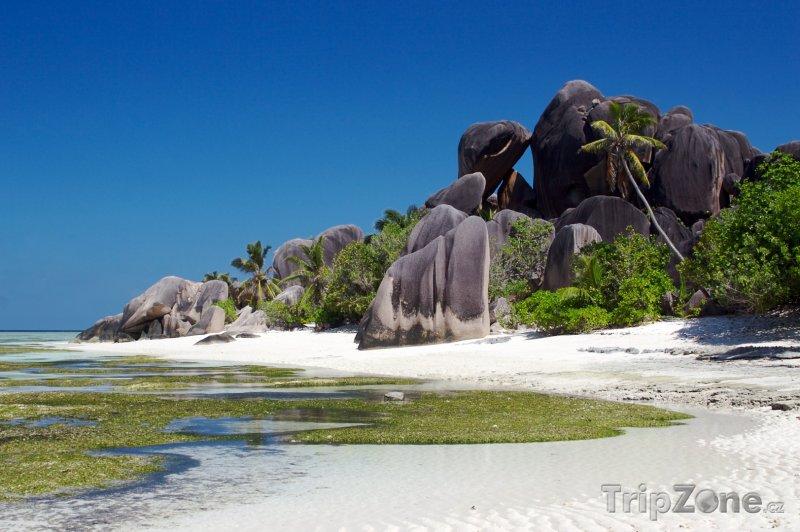 Fotka, Foto La Digue, skály na pláži Anse Source d'Argent (Seychely)