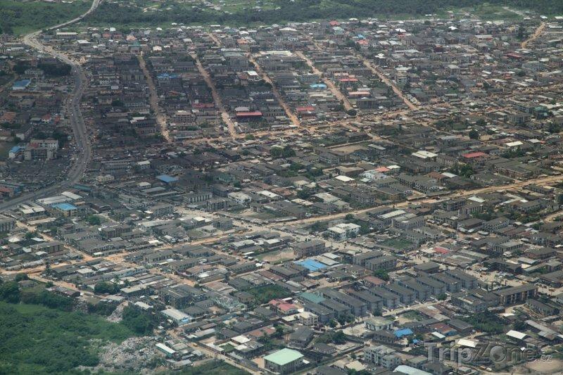 Fotka, Foto Letecký pohled na město Lagos (Nigérie)