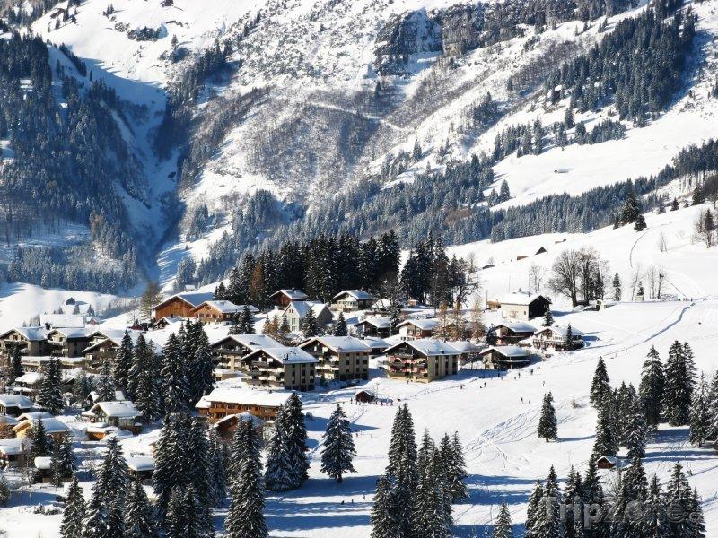 Fotka, Foto Lyžařská oblast v kantonu St. Gallen (Švýcarsko)