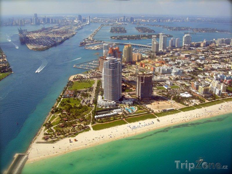 Fotka, Foto Miami, letecký pohled na město (USA)