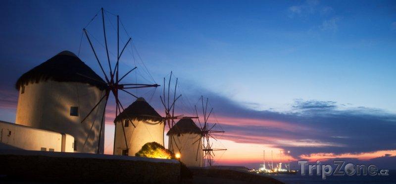 Fotka, Foto Mlýny na ostrově Mykonos (Řecko)