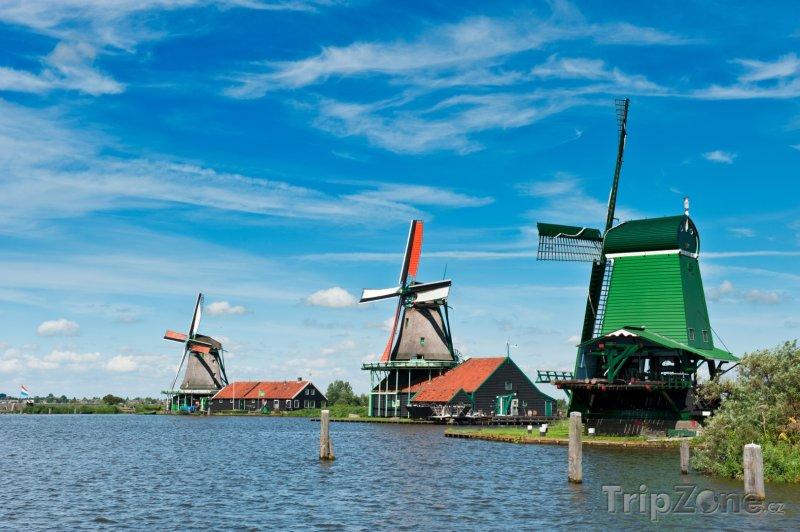 Fotka, Foto Mlýny ve skanzenu Zaanse Schans (Nizozemsko)