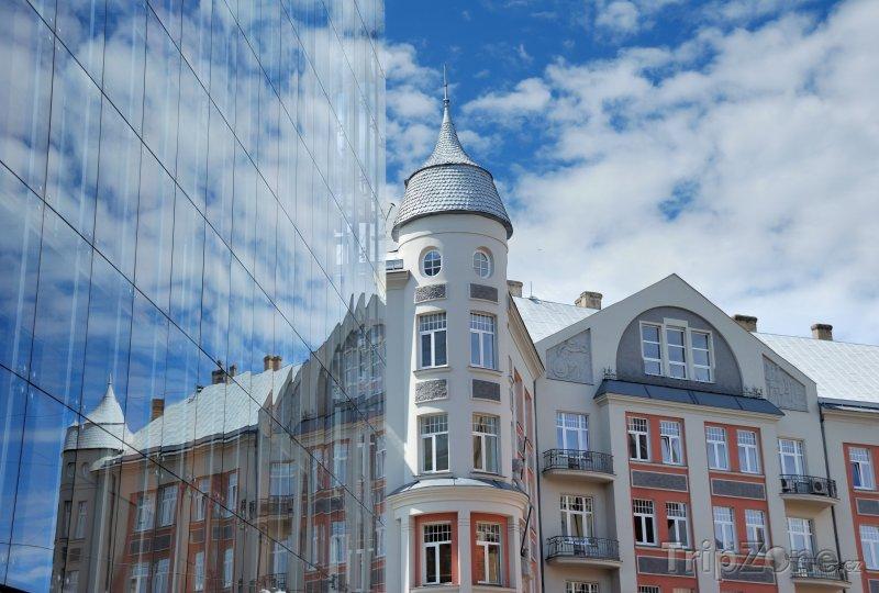 Fotka, Foto Moderní budova v centru města (Riga, Lotyšsko)