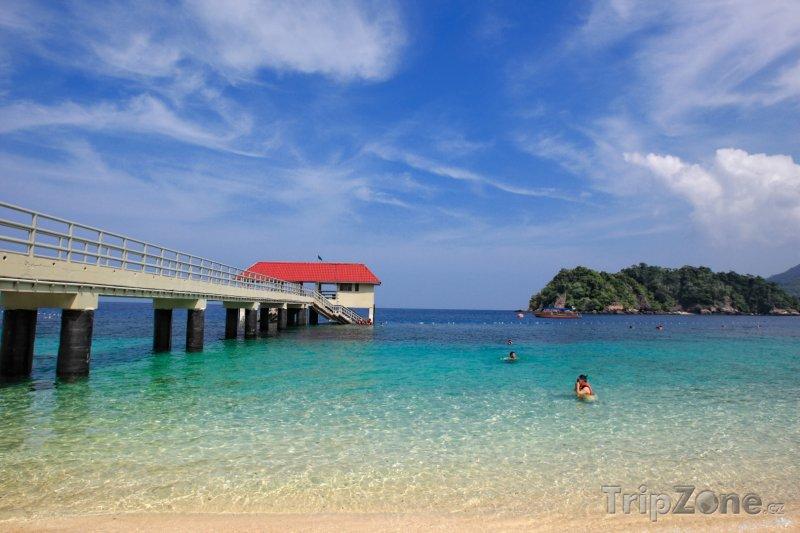Fotka, Foto Molo na ostrově Redang (Malajsie)