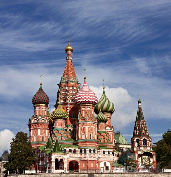 Fotka, Foto Moskva, chrám Vasila Blaženého (Rusko)