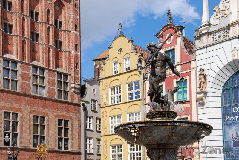 Fotka, Foto Neptunova fontána v Gdaňsku (Polsko)