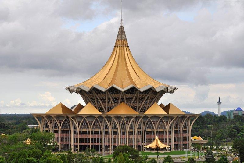 Fotka, Foto Nová budova Parlamentu ve městě Kuching (Malajsie)